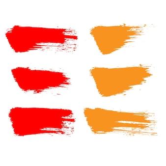 Grunge print vintage banner kleur penseelstreek