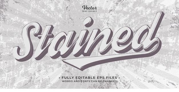 Grunge retro vintage stijl teksteffect bewerkbare eps cc