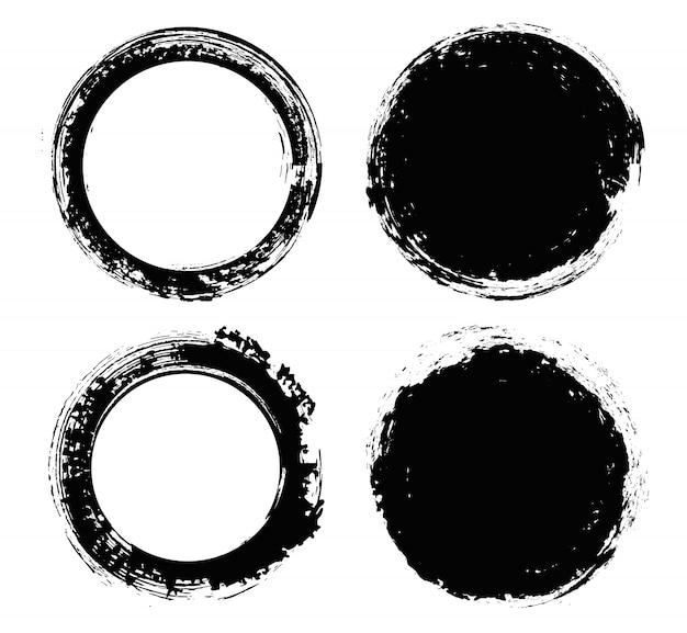Grunge rond cirkels
