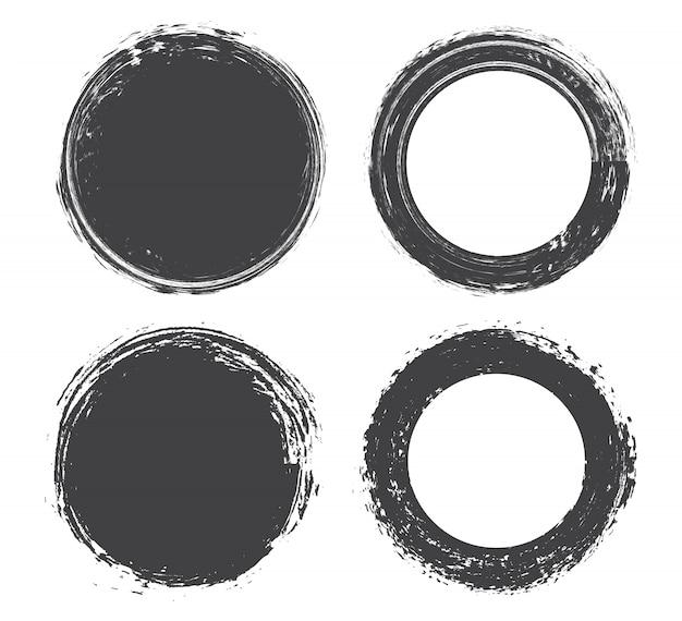 Grunge ronde frames