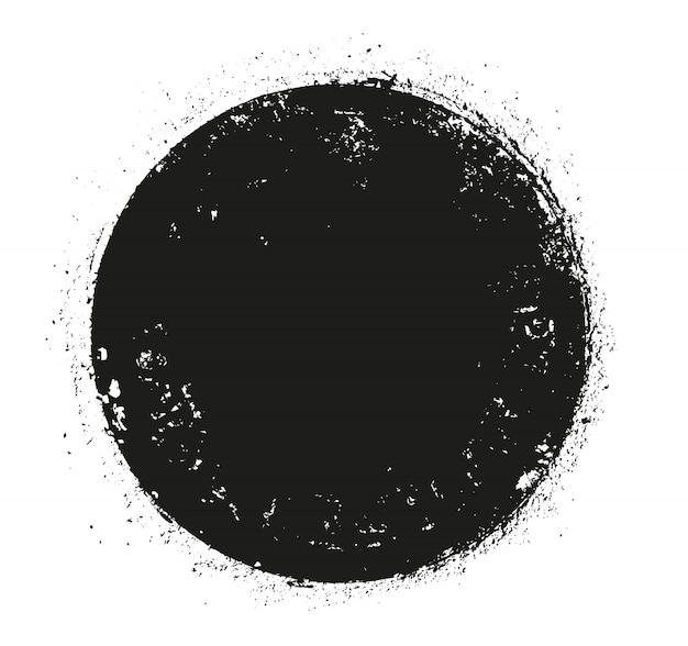 Grunge ronde vorm