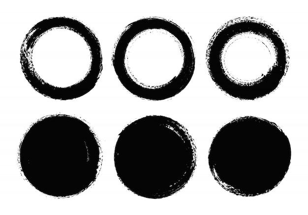 Grunge ronde vormen