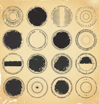Grunge rubberen stempel collectie