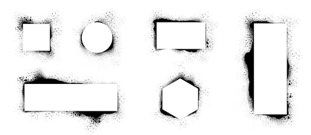 Grunge stencilframes. frame gespoten