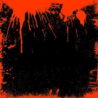 Grunge stijl bloedige grens ideaal voor halloween