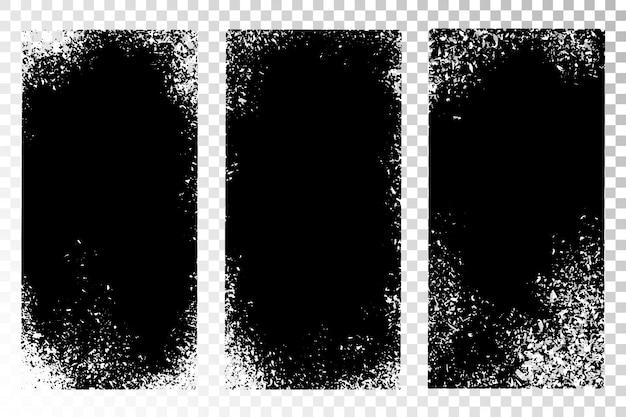 Grunge textuur vastgestelde achtergronden