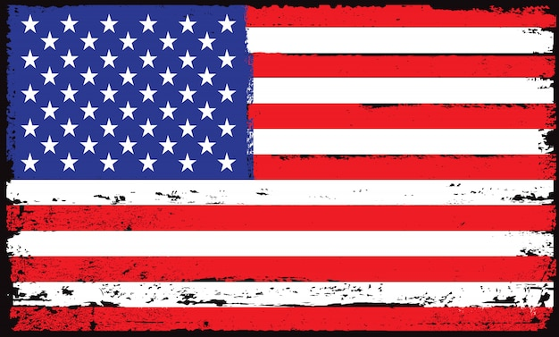 Grunge usa vlag