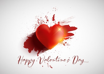 Grunge Valentijnsdag achtergrond