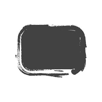 Grunge vintage geschilderde rechthoek vormen. vector illustratie.