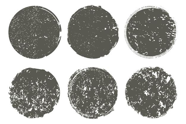 Grunge vintage ronde stempels