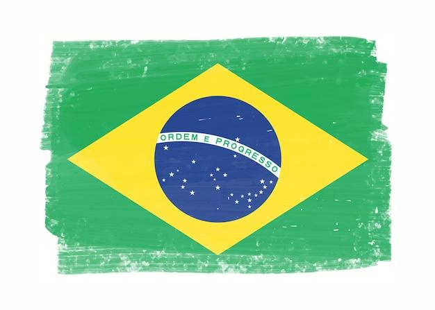 Grunge vlag van brazilië