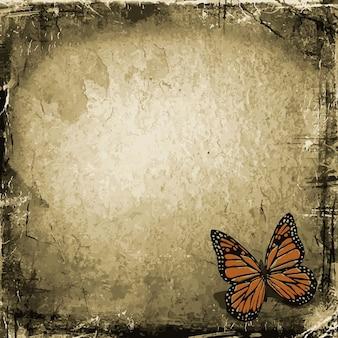 Grunge vlinder achtergrond
