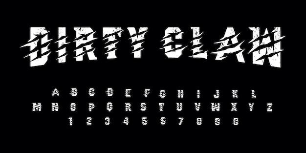 Grunge vuile klauw lettertype pack
