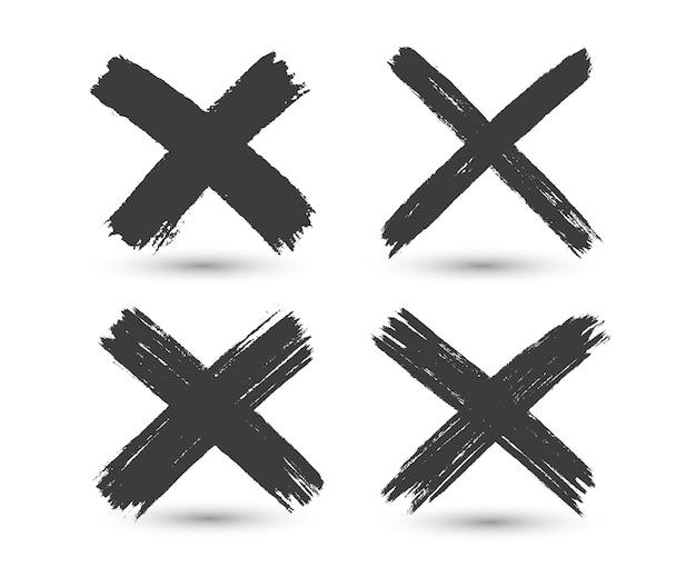 Grunge x tekenset