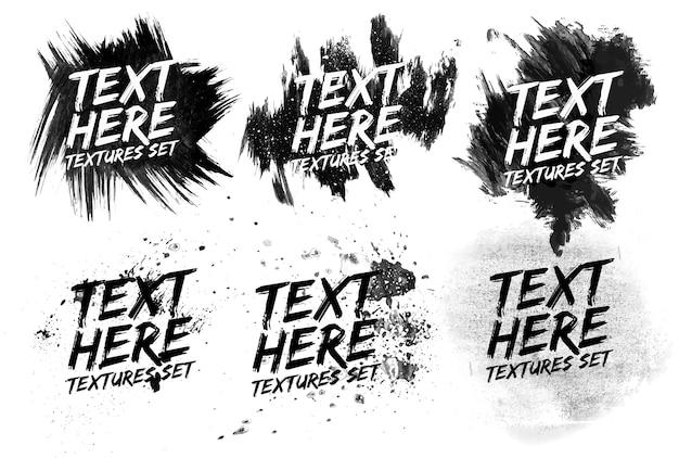 Grunge zwart-wit geschilderde abstracte patroon achtergrond