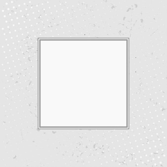 Grungeachtergrond met halftone met wit kader.