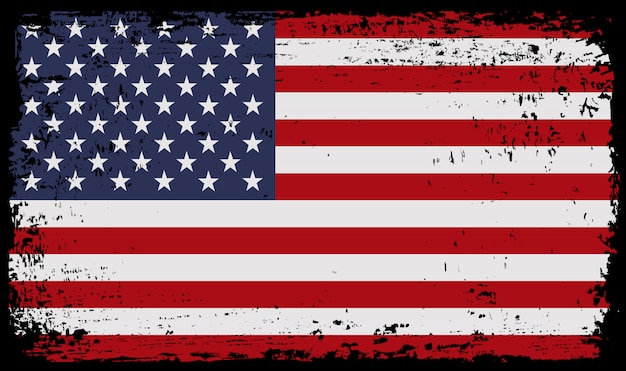 Grungevlag van de verenigde staten