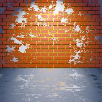 Grungy bakstenen muur