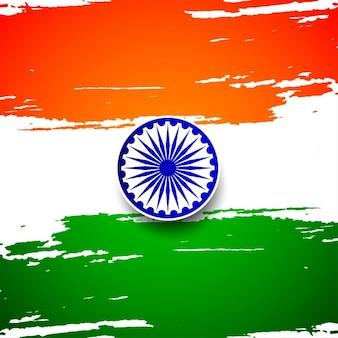 Grungy indiase vlag achtergrond ontwerp