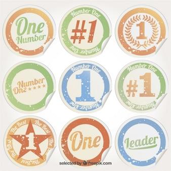Grungy nummer één stickers