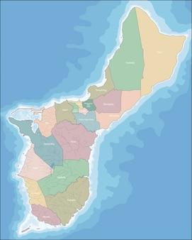 Guam is een niet opgenomen en georganiseerd gebied van de verenigde staten, gelegen in micronesië in de westelijke stille oceaan