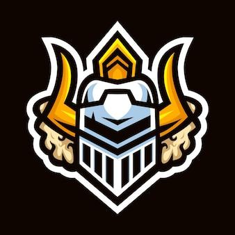 Guardian hoofd mascotte sport logo ontwerp vector