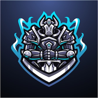 Guardian knight esport mascotte logo