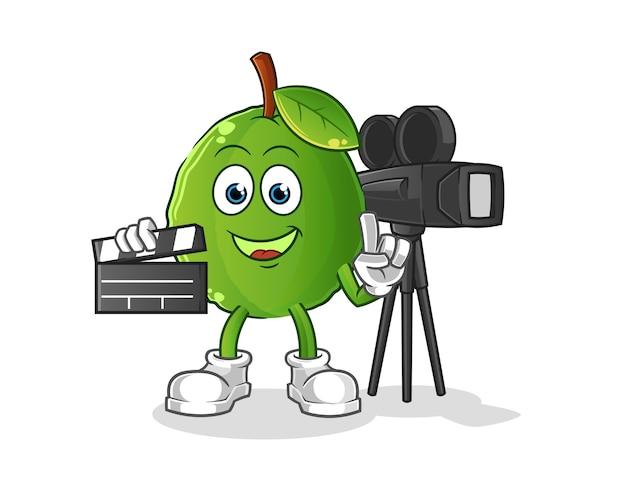 Guave directeur mascotte. tekenfilm