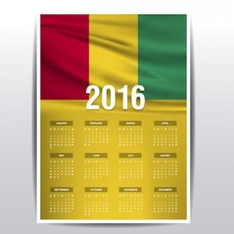 Guinee kalender van 2016