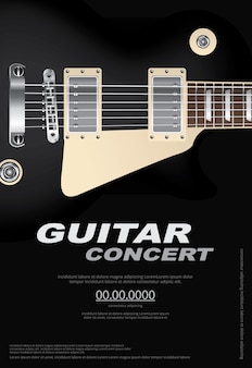 Guitar concert illustratie
