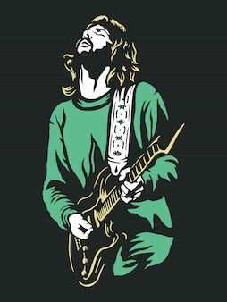 Guitar player illustratie