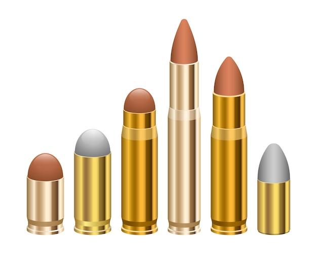 Gun bullet ontwerp illustratie geïsoleerd op een witte achtergrond