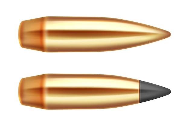 Gun kogels munitie wapen 3d-realistische geïsoleerd