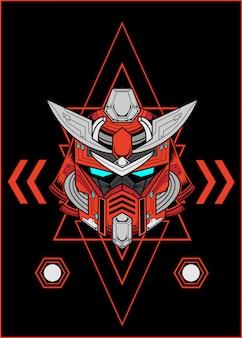 Gundam kwaad roofdier concept lijn kunst werk collectie