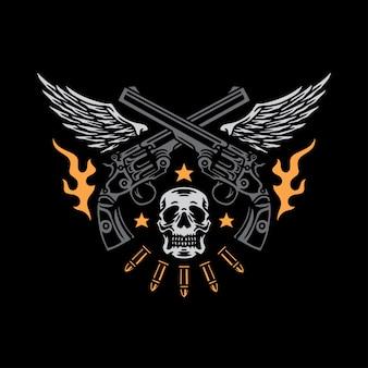Guns club illustratie