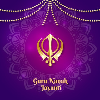 Guru nanak jayanti realistische achtergrond