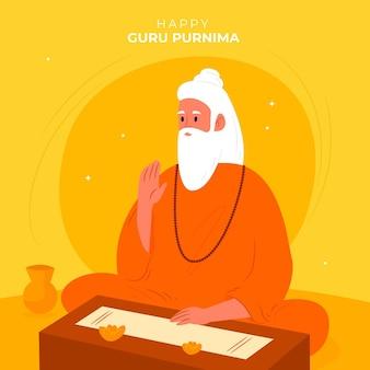 Guru purnima viering illustratie