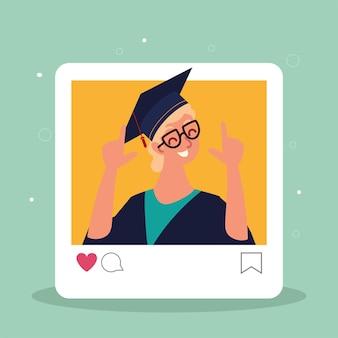 Guy virtuele afstuderen