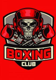 Gym badge van boksen schedel