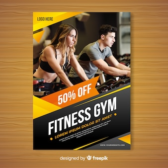 Gym brochure sjabloon
