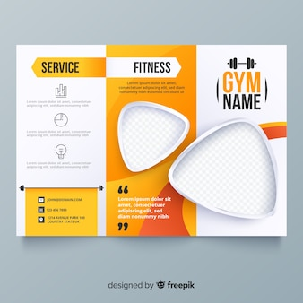 Gym driebladige brochure