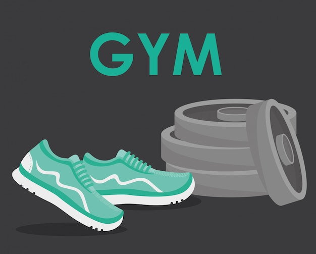 Gym en fitness ontwerp