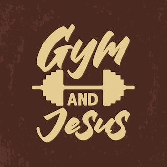 Gym en jezus typografie citaten design graphics
