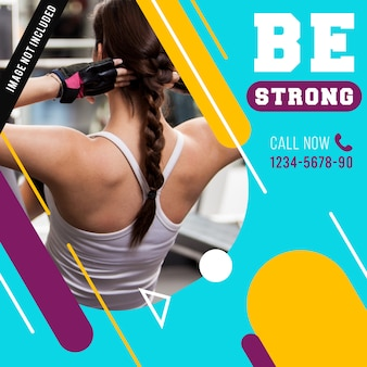 Gym fitness banner of berichtsjabloon
