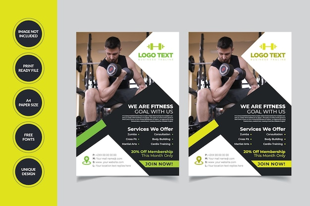 Gym fitness flyer-sjabloon
