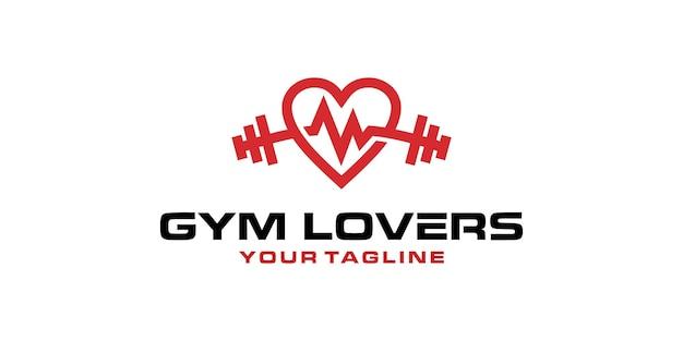 Gym fitness liefhebbers logo ontwerpsjabloon inspiratie