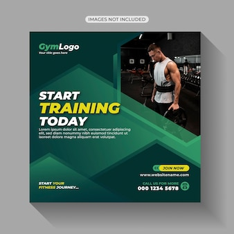 Gym fitness oefening workout training social media post