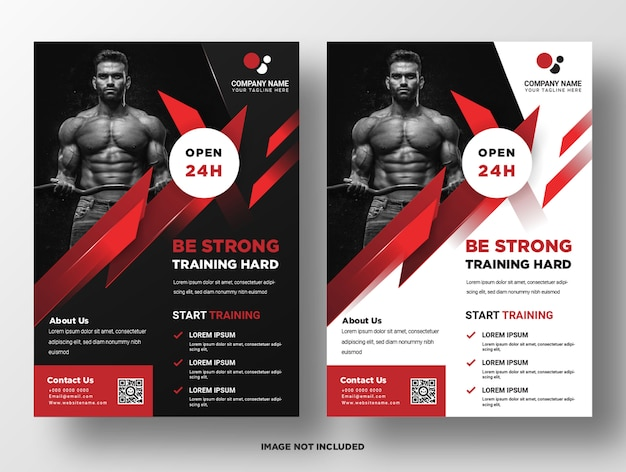 Gym fitness promotie sjabloon folder