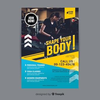 Gym folder brochure