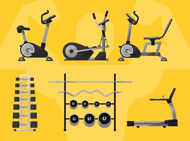 Gym geïsoleerde apparatuur